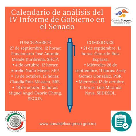 Calendario De Comparecencias Noticias Congreso Avala Senado Calendario De