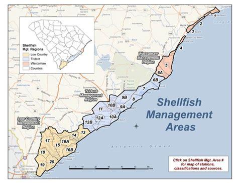 South Carolina Vital Records Certificate Dhec Shellfish Bed Monitoring Maps