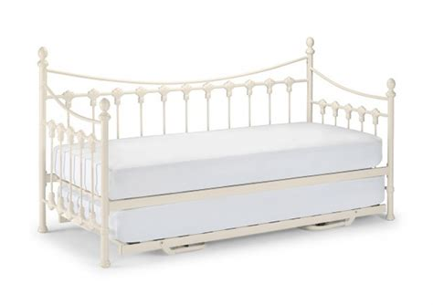 White Metal Single Bed Frame Julian Bowen Versailles 3ft Single White Metal Day Bed With Bed By Julian Bowen