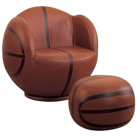 basketball chair and ottoman acme all star basketball swivel kids chair and ottoman in