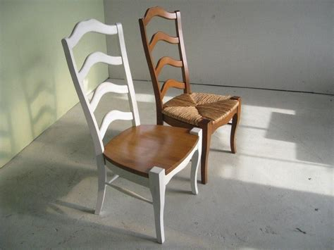 ladder back dining room chairs hand made white french ladder back dining room chairs by