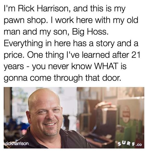 Pawn Stars Rick Meme - i m rick harrison and this is my pawn shop know your meme