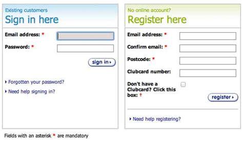 tesco bank register tesco shopping login sign in on www tesco