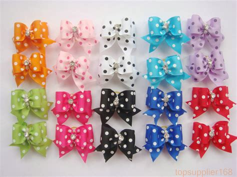 puppy hair bows 20 x cat puppy hair bows ribbon wholesale hairpin flower pets new gift ebay