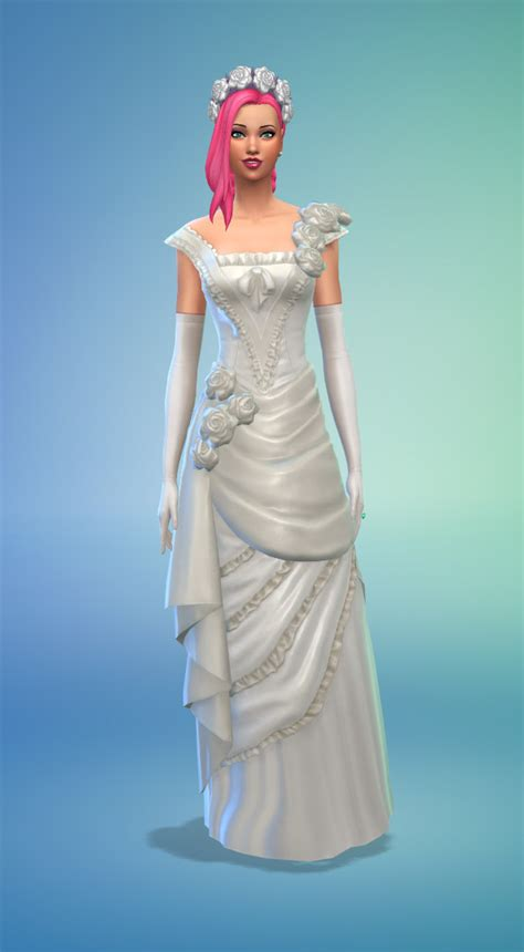 Wedding Dress The Sims 4 by How To Plan A Wedding In The Sims 4 Sims