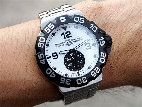Tag Heuer Formula 1 Calibre 16 White Silver Brown Leather For tag heuer formula 1 grande date white 44 hi