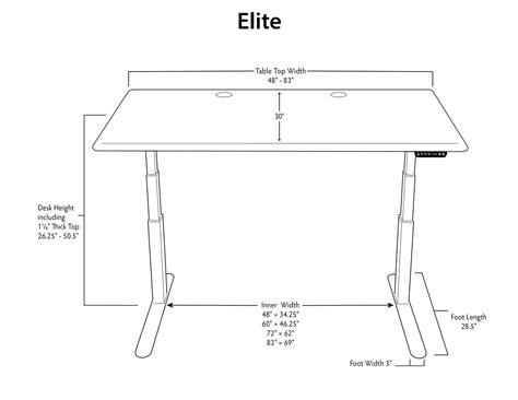average desk size imovr thermodesk elite stand up desk review