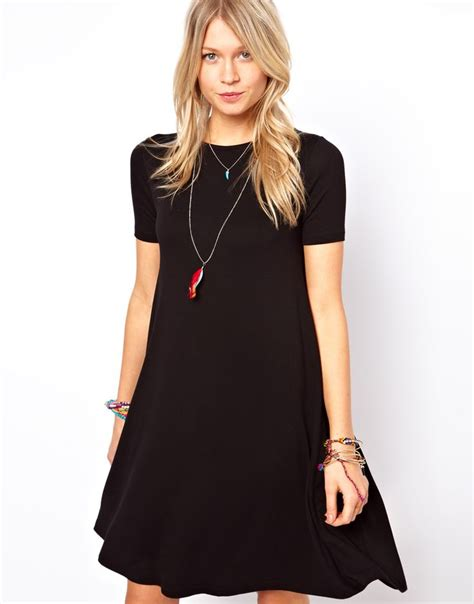 swing short swing dress with short sleeves