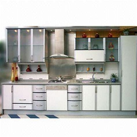 Laminated Panel Kitchen Cabinet Doors with Aluminum plastic Frame, Includes Spice Shelf with