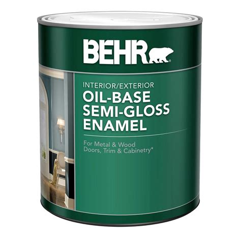 gloss paint behr premium plus 1 qt ultra pure white hi gloss enamel interior exterior paint 805004 the
