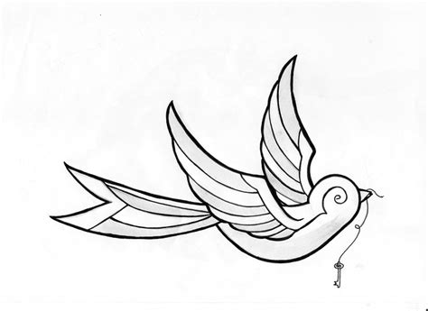 outline bird tattoo designs simple bird designs
