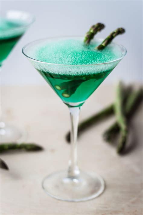 sour apple martini sour apple martini with asparagus foam a beautiful plate