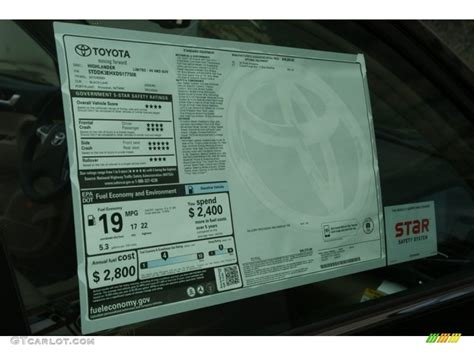 Toyota Window Sticker By Vin 2012 Toyota Camry Le Window Sticker Photo 56094896 Images