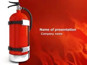 fire extinguisher presentation template for powerpoint and
