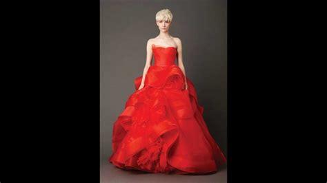 fotos vestidos de novia rojos vestidos de novia rojos de vera wang modelos 2014 youtube