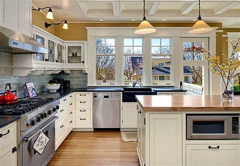 seattle kitchen design a blue and white colonial style craftsman in seattle hooked on houses