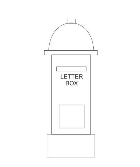Coloring Pages Of Letter Box | how to draw a letter box in some easy steps