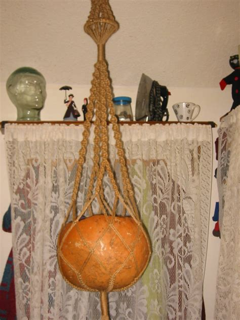 Pictures Of Macrame - file macrame hanger and gourd jpg