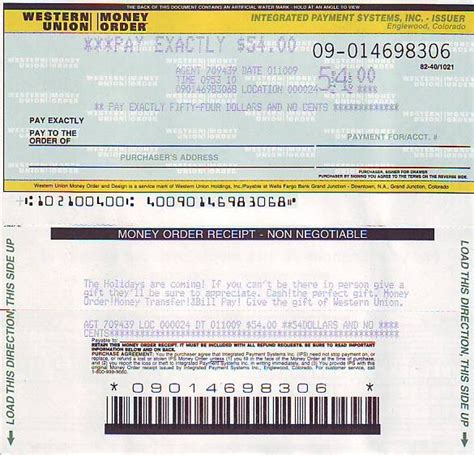picture western union money order blank money order