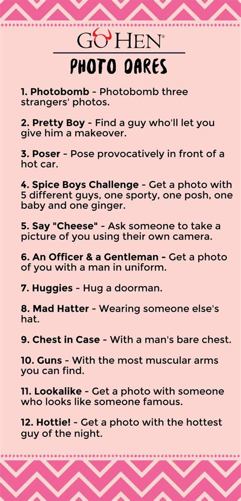 sexual challenges for your hilarious hen dares forfeits gohen
