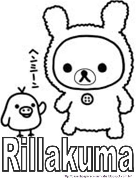 Free coloring pages of rilakkuma