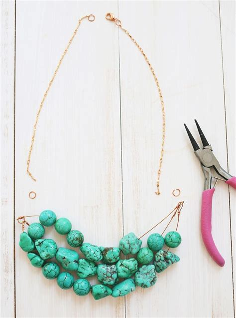 how to make a beaded chain necklace how to make a simple beaded necklace craft ideas