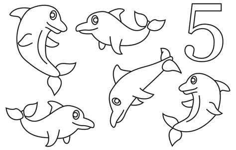 dolphin coloring book 5 dolphins coloring book page by cheekydesignz on deviantart