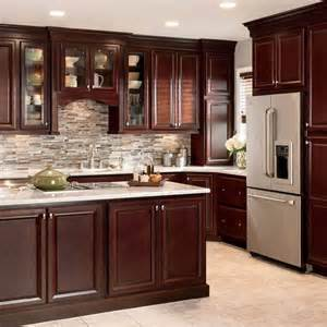 kitchen cabinets lowes showroom shop shenandoah bluemont 13 in x 14 5 in bordeaux cherry