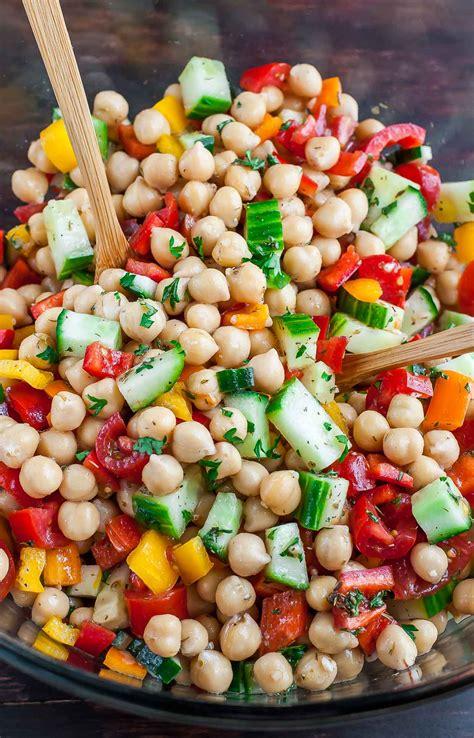 chickpea salad greek chickpea salad
