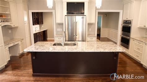 Snow White Granite Kitchen Countertop