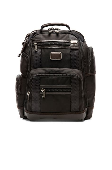 Tumi Kingsville Deluxe Brief Pack 222382nvy2 tumi alpha bravo kingsville deluxe brief pack in brown lyst
