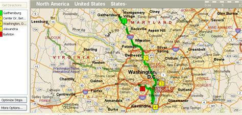washington dc map surrounding areas obryadii00 map of dc