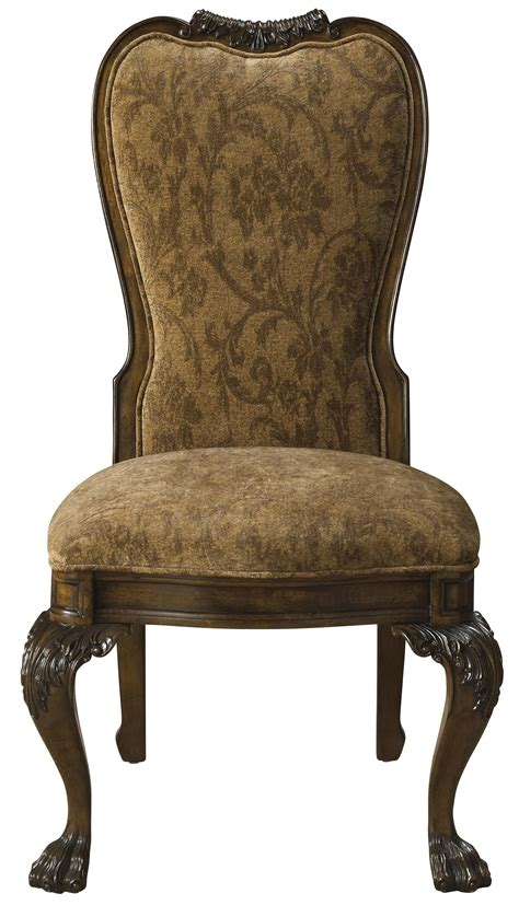 Formal Dining Chairs Formal Upholstered Back Dining Arm Chair Furnished With Arabesque Pattern By Furniture