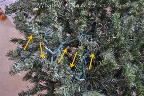 how to string lights on a christmas tree how to hang tree lights whats ur home story