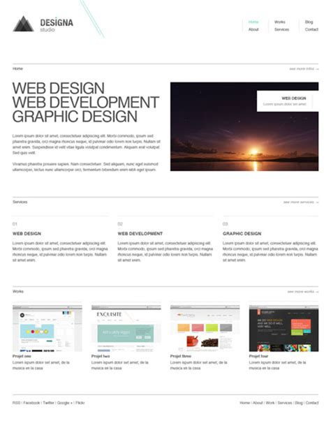 25 Free Minimal And Clean Style Xhtml Css Website Templates Designbeep Minimalist Web Templates