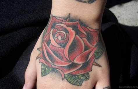 classic rose tattoos 50 flower tattoos on