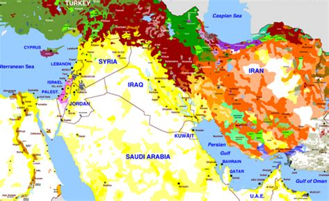 middle east map ethnic middle eastern ethnic groups