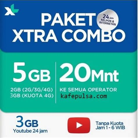 Voucher Kuota Three 5gb 4g paket data xl xtra combo 5gb 2gb 3gb 4g xtra 3gb telp 20 mnt all