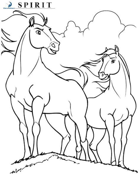 coloring pages of spirit animals coloriage spirit l 233 talon des plaines 224 imprimer gratuitement