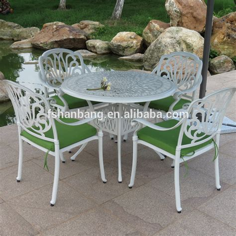 outdoor patio white  dining table  chairs set