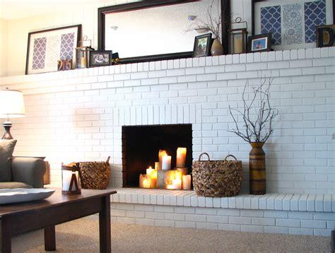 brick painted brick fireplace ideas flower designs ideas