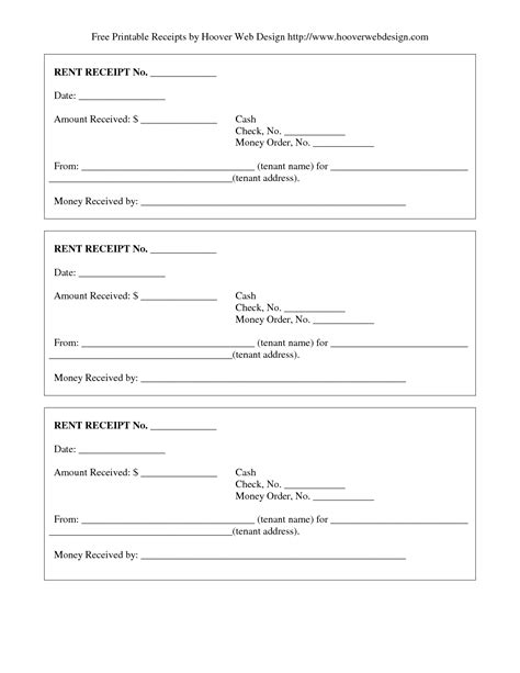 free printable receipt template 9 best images of free printable blank receipts free