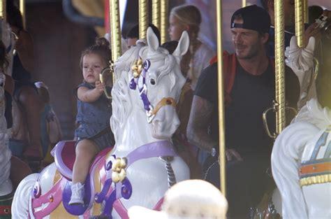 Beckhams Hit Disneyland by The Beckhams Hit Disneyland And David Ride A