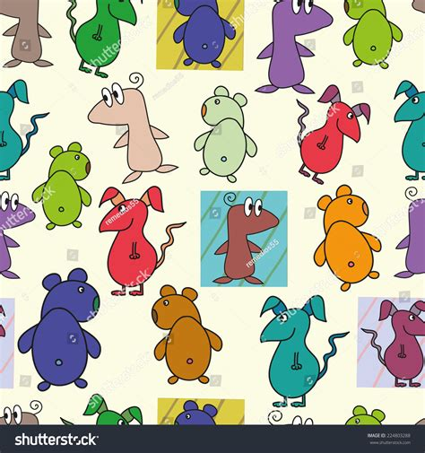 html pattern for characters seamless pattern with cartoon characters stock vector