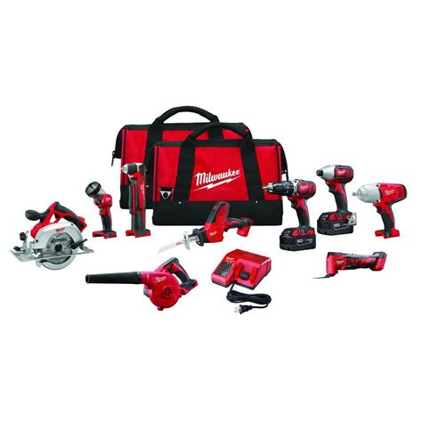 milwaukee m18 18 volt lithium ion cordless combo kit 9
