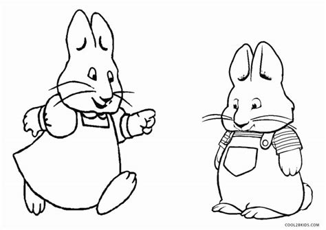 free printable max and ruby coloring pages for kids