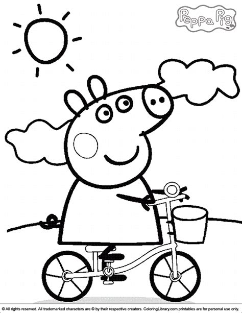 peppa pig birthday coloring page peppa pig coloring pages coloring home