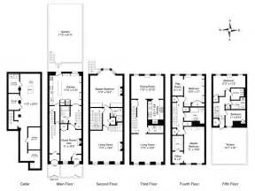 New York Brownstone Floor Plans by Manhattan Townhouse Floor Plan New York Townhouse Floor