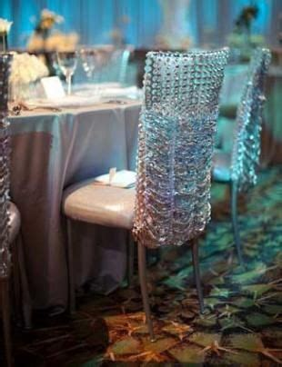 Crystal and rhinestone chair covers!   Event Decor