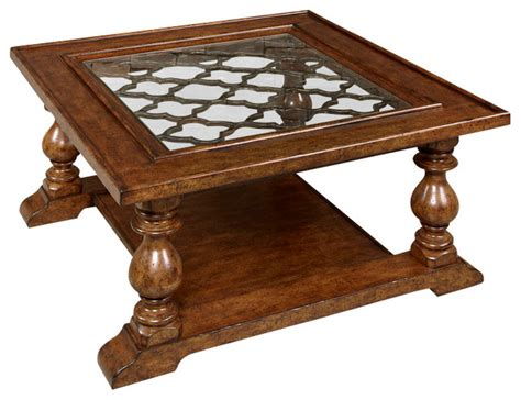 Square Coffee Table Sets Hammary Homestead 4 Square Coffee Table Set In Antique Brown Traditional Coffee Table